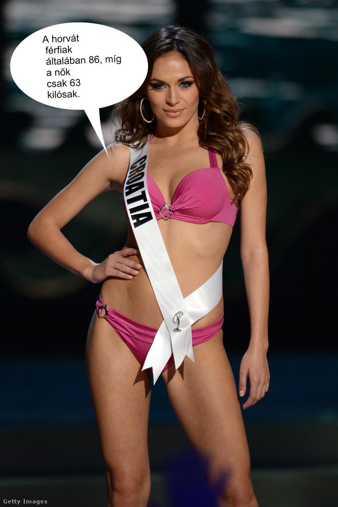 Ivana Misura 2015-ben Miss Horvátország volt, szóval neki aztán elhiheti, ha azt mondja, az országban a nők 63, a férfiak pedig 86 kilót nyomnak átlagosan