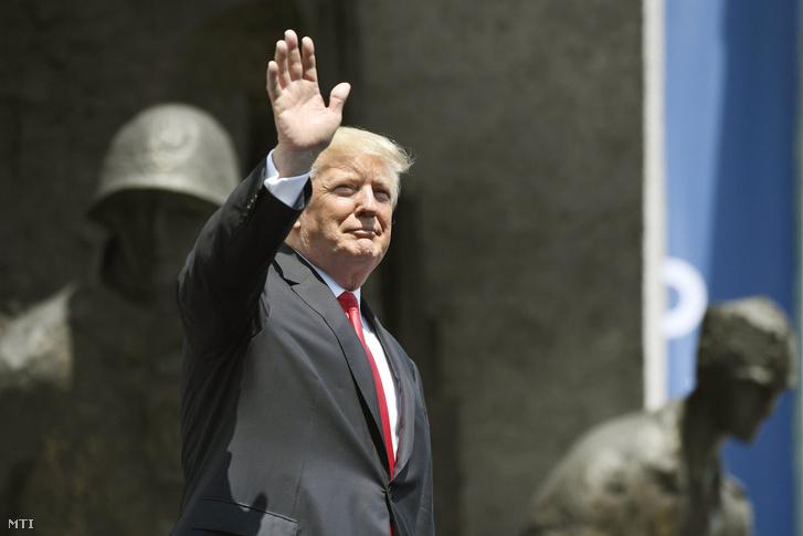 Donald Trump amerikai elnök a varsói Krasinski téren 2017. július 6-án.