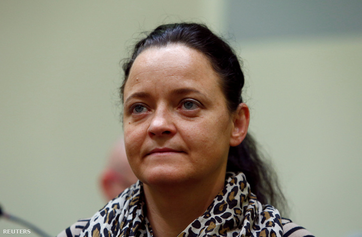 Beate Zschäpe 2017. július 19-én a bíróságon