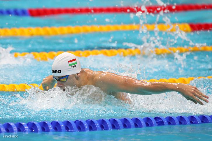 Kenderesi Tamás a férfi 200 méteres pillangóúszás elődöntőjében