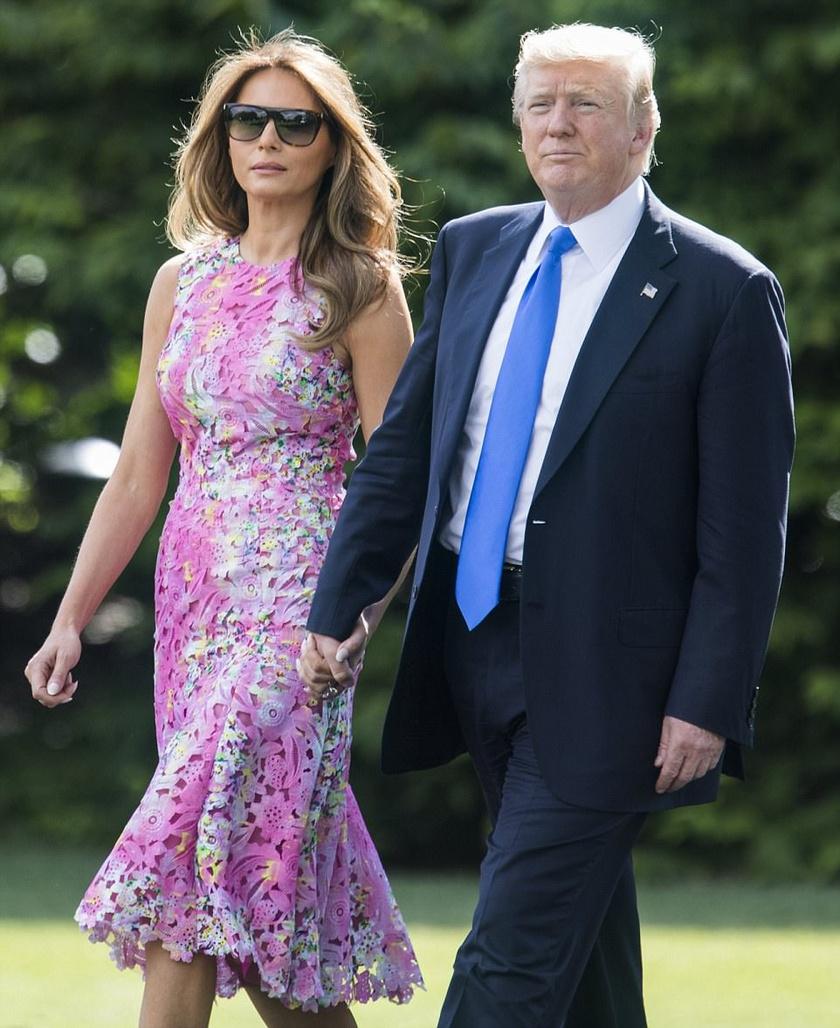 Melania Trump az eddigieknél jóval merészebb ruhát választott, azonban nem a kívánt hatást érte el vele.