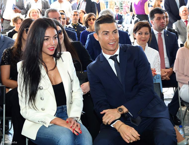 Georgina Rodriguez és Cristiano Ronaldo.