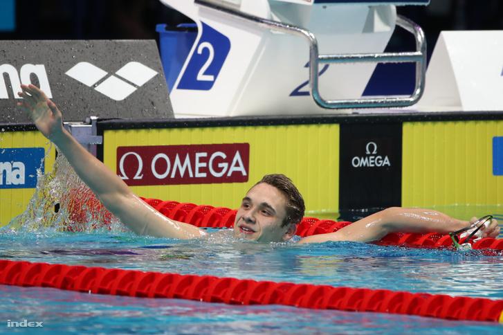 Milák Krisfót harmadik az elődöntőben, megint juniorvilágcsúcsot úszott