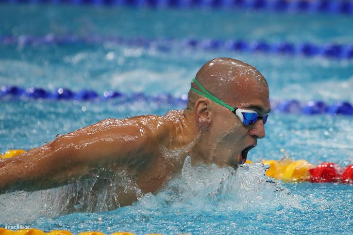 Cseh László a férfi 200 méteres pillangóúszás elődöntőjében