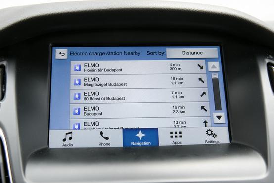 Széria a navigációs rendszer, amely ismeri is a töltő-pontok helyét