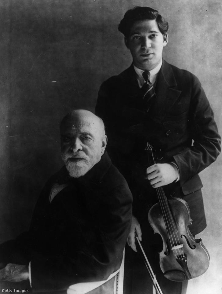 Auer Lipót és egyik tanítványa, Beno Rabinov