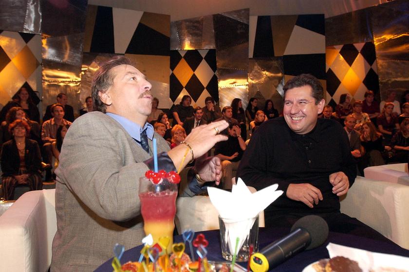 Bajor Imre és Dömsödi Gábor a Magyar Televízió NÉVShowR című műsorának felvételén 2004 novemberében.