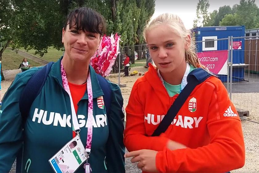 Kőbán Rita és a tanítványa, Szellák Szabina, aki egy arannyal és egy ezüsttel zárta az Európai Ifjúsági Olimpiai Fesztivált.