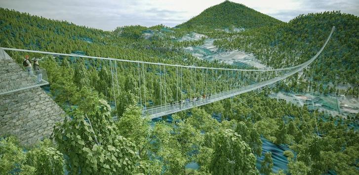 A sátoraljaújhelyi híd látványterve