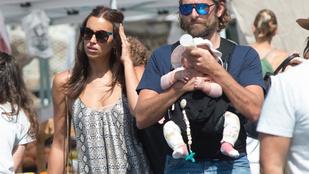 Négy hónapot kellett várni, de végre láthatjuk Bradley Cooper és Irina Shayk kislányát!