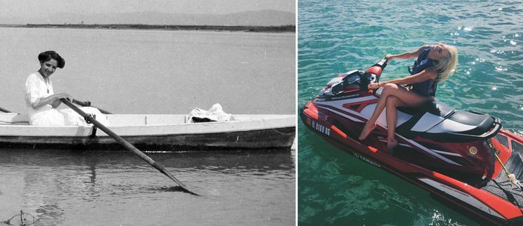 Hódolás a vízi sportoknak 1920-ban és Karlie Kloss-módra.