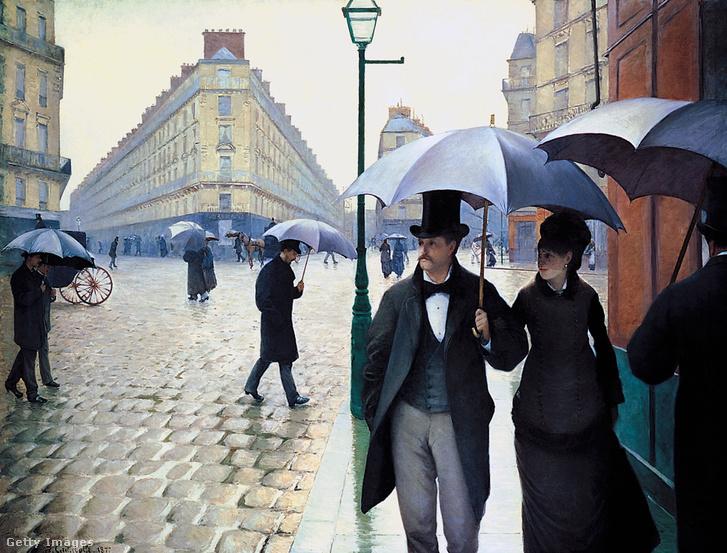 Gustave Caillebotte: A Place de l'Europe egy esős napon