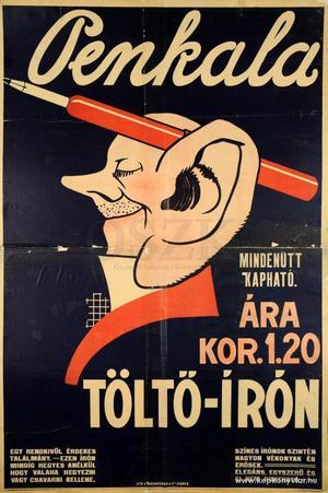 A fotón láthatóhoz hasonló Penkala toll-reklám 1914-ből