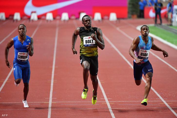 Usain Bolt fut 100 méteren Monacóban, 2017. július 21-én
