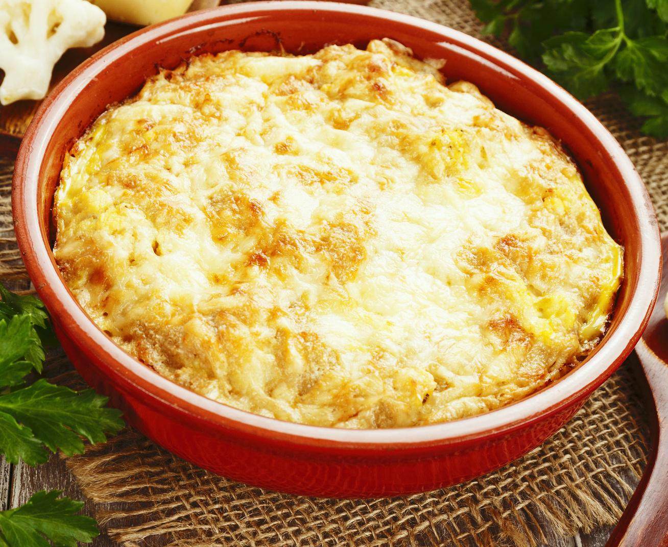 Darált húsos rakott karfiol dupla adag sajttal sütve - Kiadós és szaftos