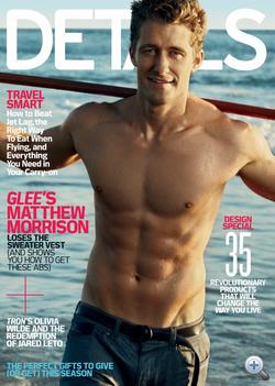 Matthew Morrison ruha és szőr nélkül a Details címlapján