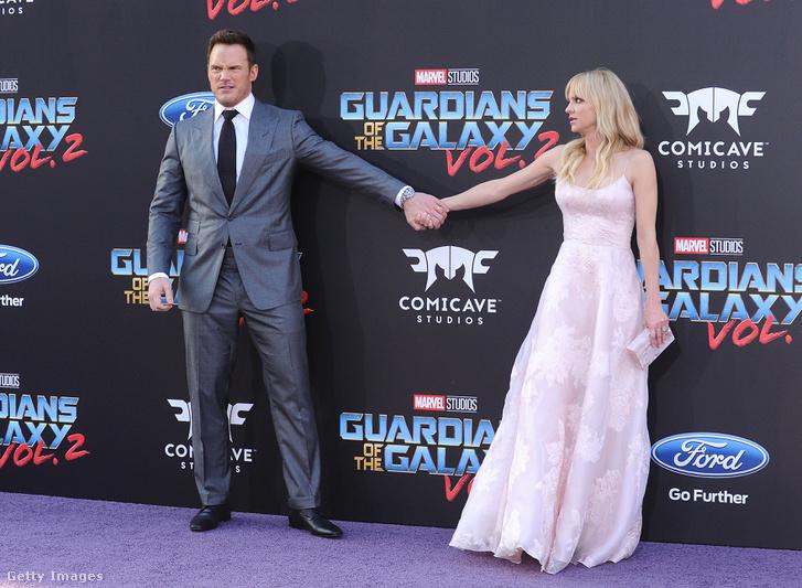 Chris Pratt és Anna Faris a Galaxi Őrzői 2. premierjén