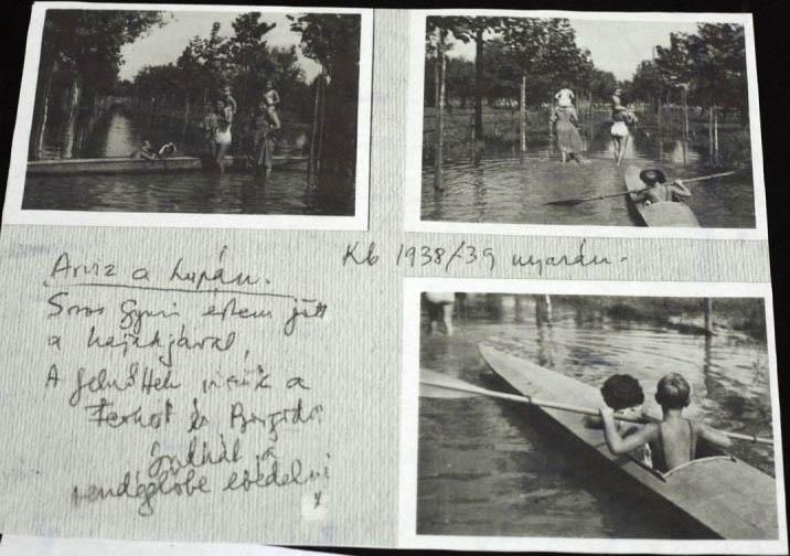 Soros kajakozik az egyik lupai árvíznél
