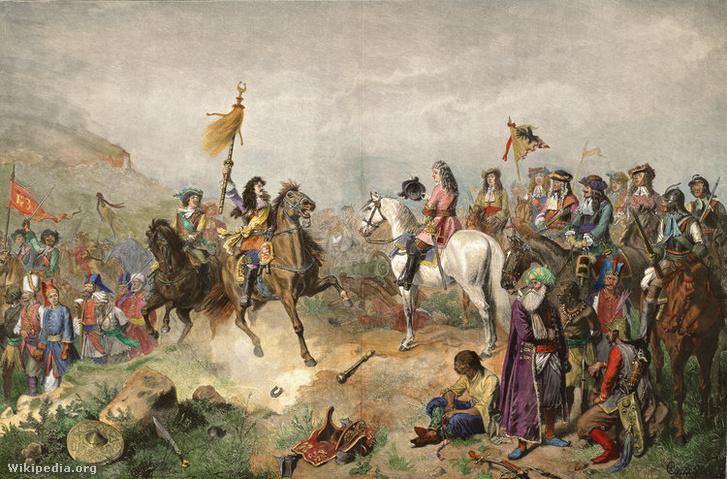 Bádeni Lajos őrgróf és Lotharingiai Károly herceg a nagyharsányi csatában