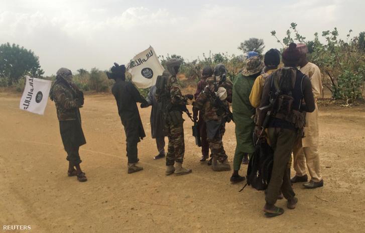 A Boko Haram fegyveresei Nigériában