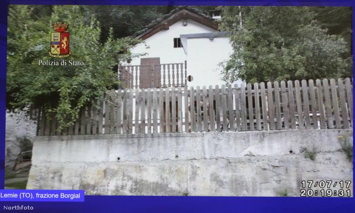 A tanya az olasz rendőrség által kiadott képen.
