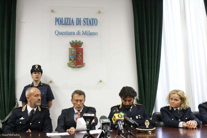 A milánói rendőrség sajtótájékoztatót tart az ügyben.