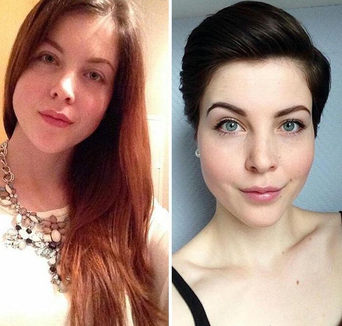Magabiztosabbnak és nőiesebbnek látszik a rövid hajjal, ráadásul az arcát és a szemét is jobban kiemeli ez a frizura.