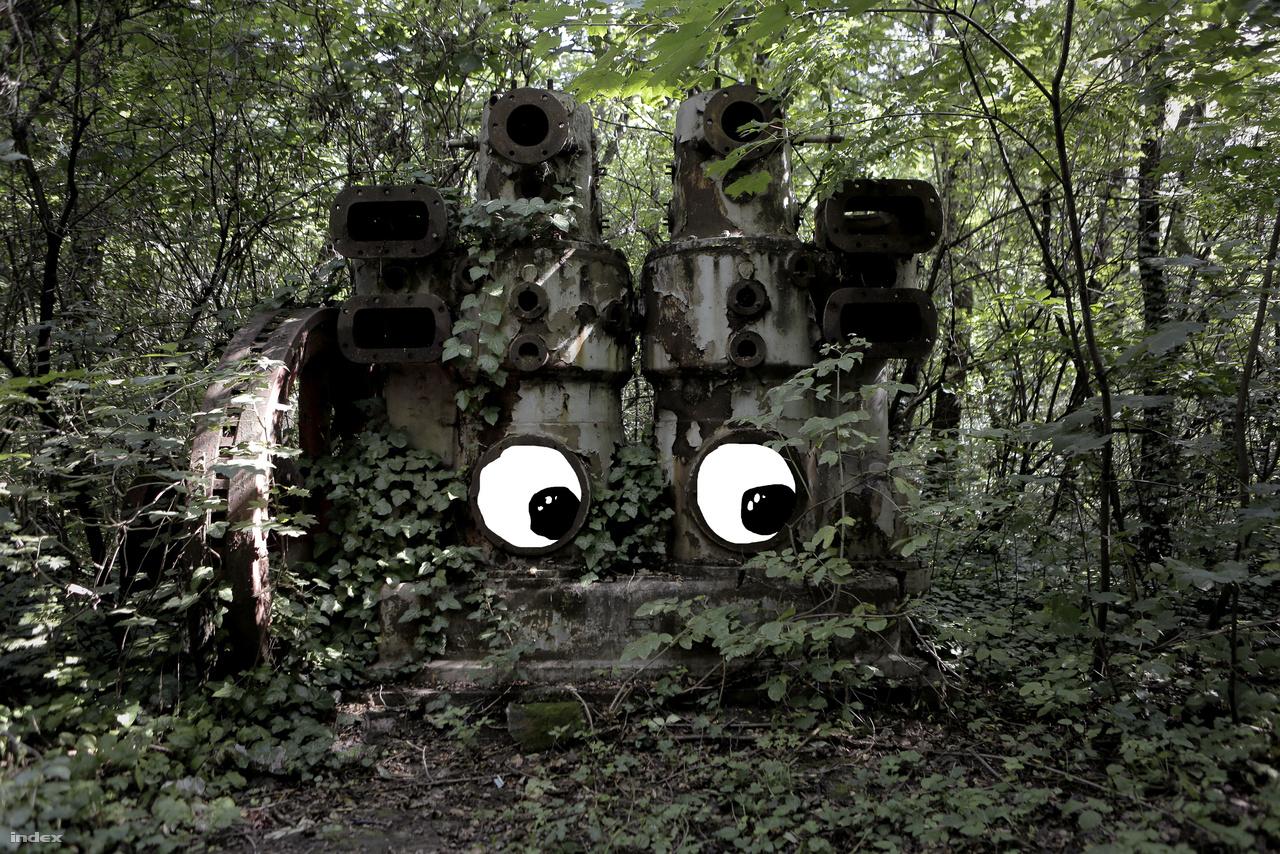"""""""Elsőnek az Energia gyáregységből a Dugattyús Légsűrítő Kompresszor telepedett le az erdőben."""""""
