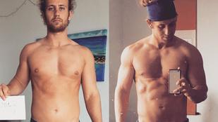 Két hónap alatt ennyit változott a teste, vegán étrend mellett