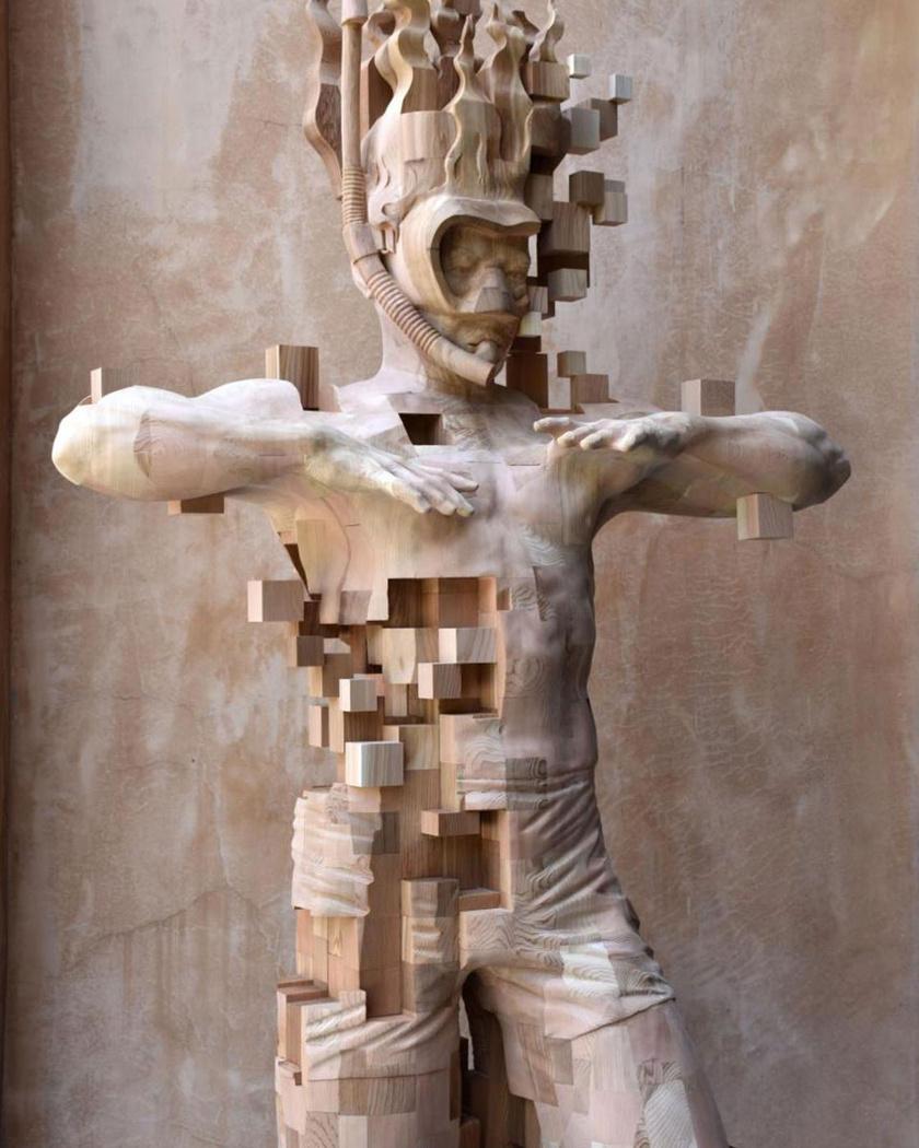pixel-szobor