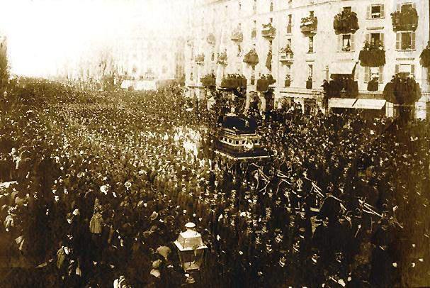 Verdi temetése 1901-ben