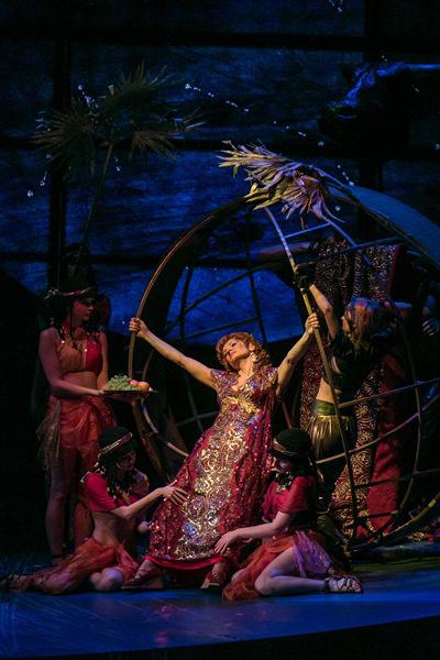 A Nabucco budapesti előadásának színpadképe