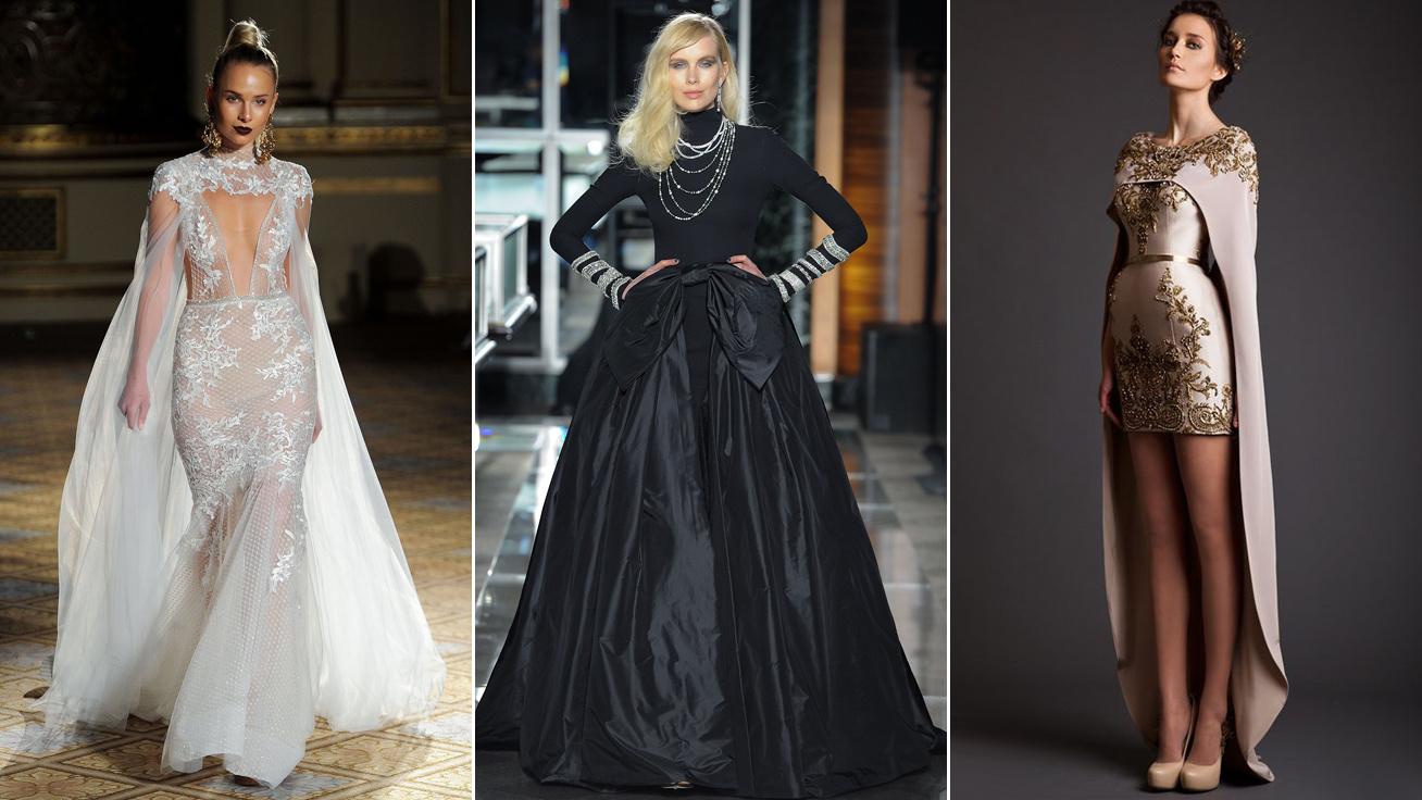 Fátyol helyett palást  Megvan a 2018-as esküvői divat - Ékszerekkel ... b5a047b8ab