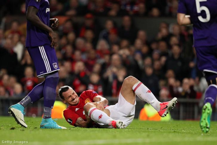 Ibrahimovic az Anderlecht elleni EL-meccsen sérült meg