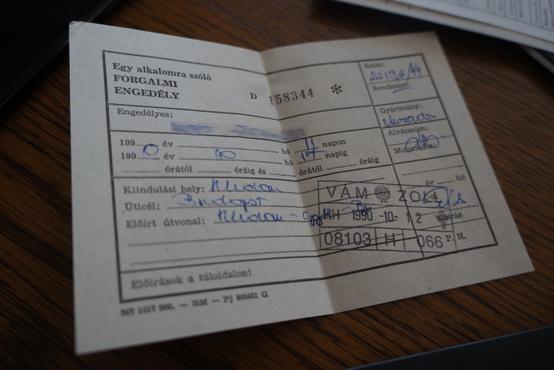Ideiglenes forgalmi engedély a magyar rendszámig