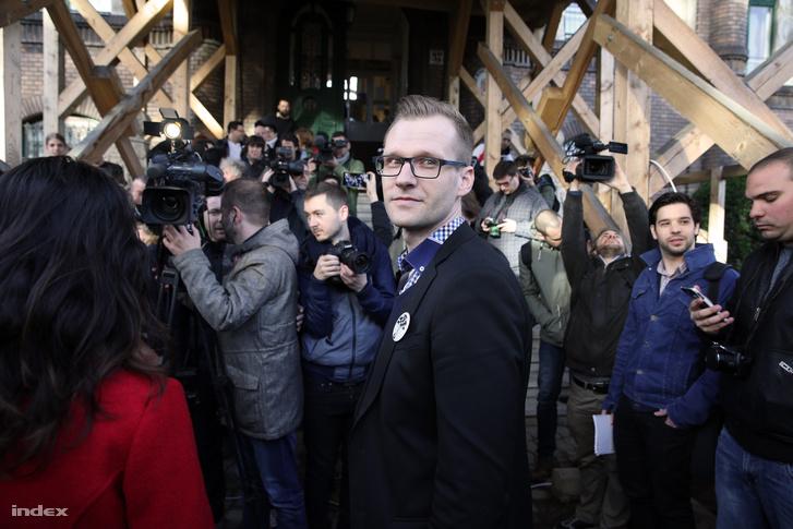 Pukli István a 2016. március 30-i pedagógustüntetésen
