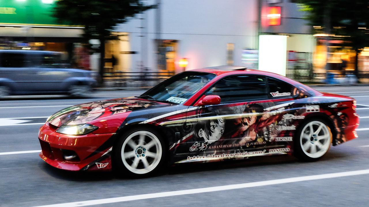 Manga-dekós Nissan Silvia (200SX), rendesen megcsinálva