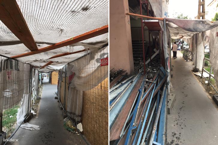 A beleset előtti fotók az építkezésről 2017. augusztus 12-án.