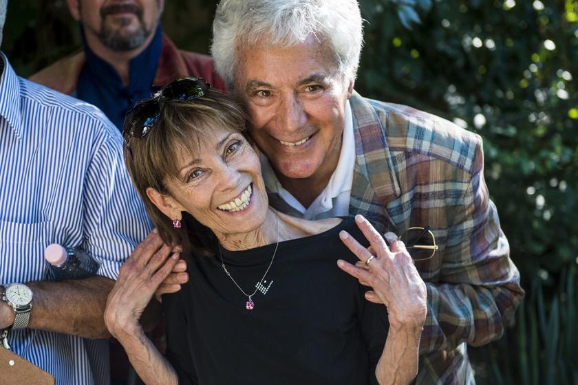 Venczel Vera és Kovács István nagyon örültek, hogy 50 év újra találkoztak.