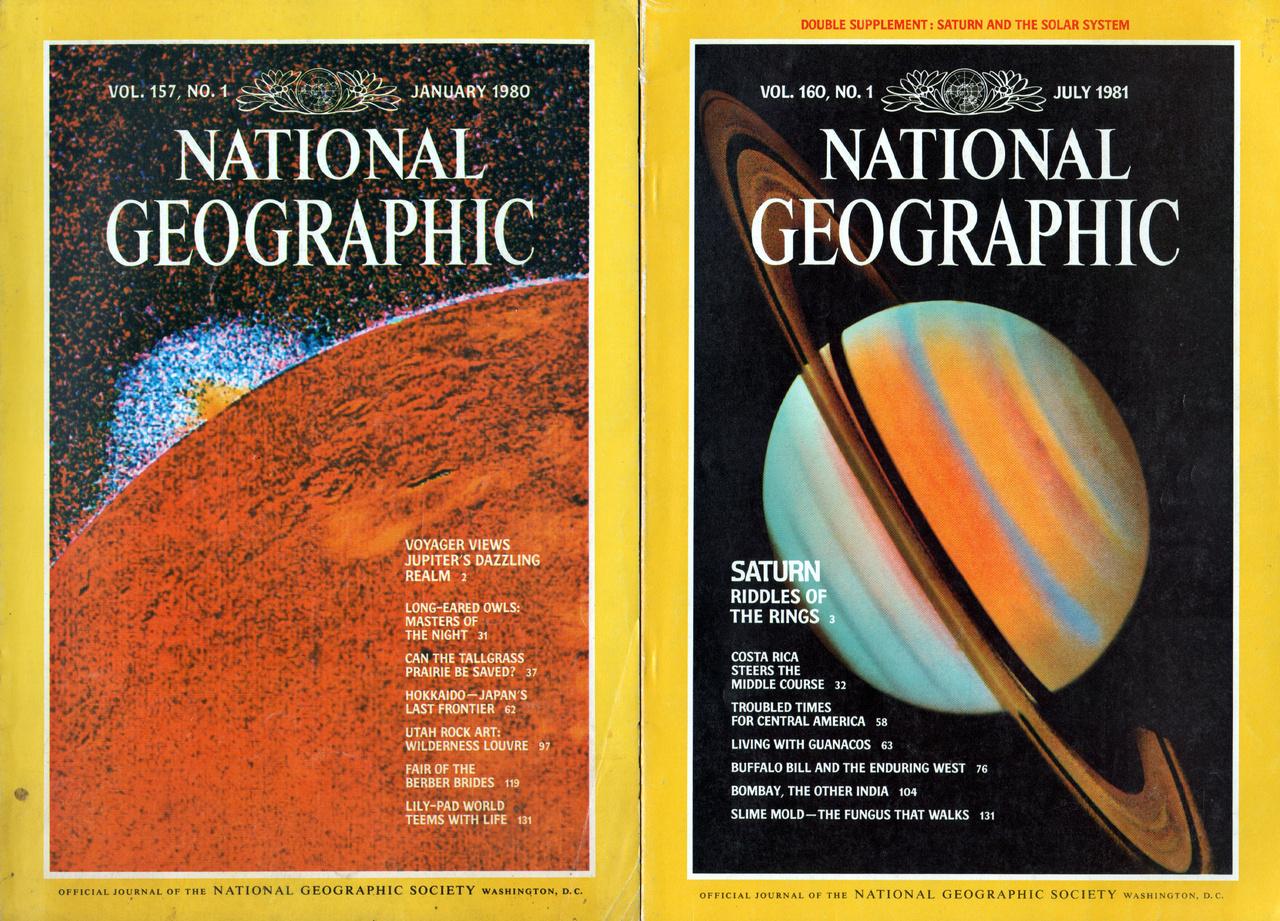 A Voyager program eredményei gyakran szerepeltek (és szerepelnek még ma is) a tudományos magazinok címlapjain.