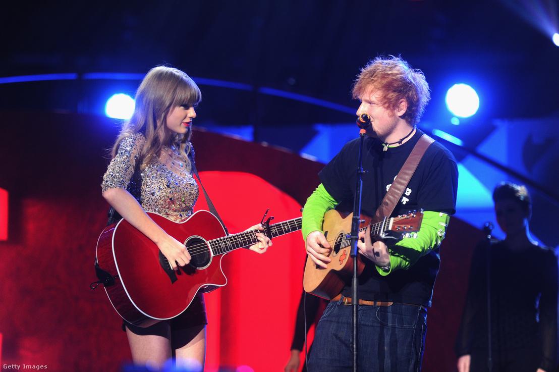 Ed Sheeran és Taylor Swift 2012-ben egy New York-i koncerten
