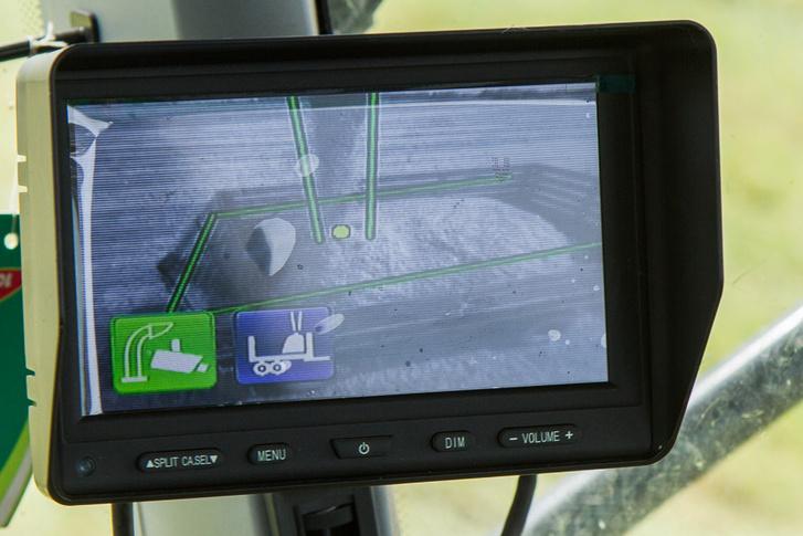 Íme a kamerás rendszer képe: felismeri, hová kell púpozni a cuccot