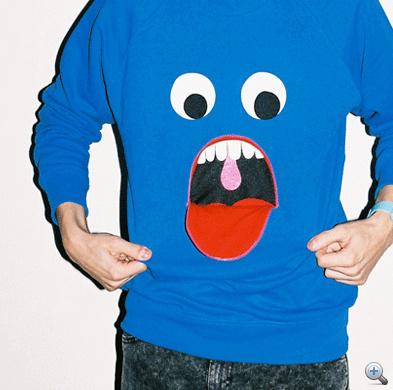 A pulóver kitátott szájjal - kattintson a fotóra!