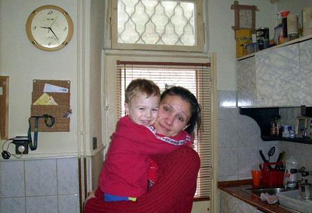 Az anya Dominikkal - A fotókat a szülők hozzájárulásávbal közöljük
