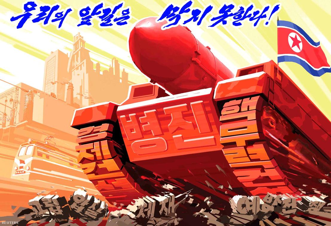 Az észak-koreai háborús propaganda az egész országot behálózza