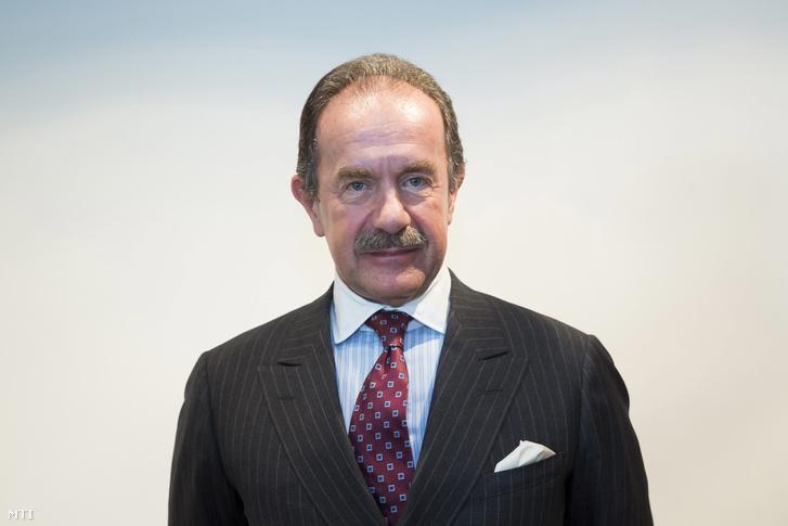 Heinrich Pecina a Vienna Capital Partners tulajdonosa a Vienna Capital Partners új hazai médiavállalatának a Mediaworksnek a budapesti székhelyén tartott sajtótájékoztatón 2014. október 1-jén.