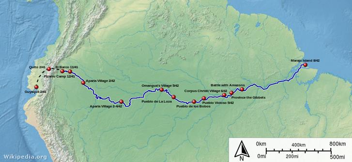 Az első út útvonal (1541-1542)