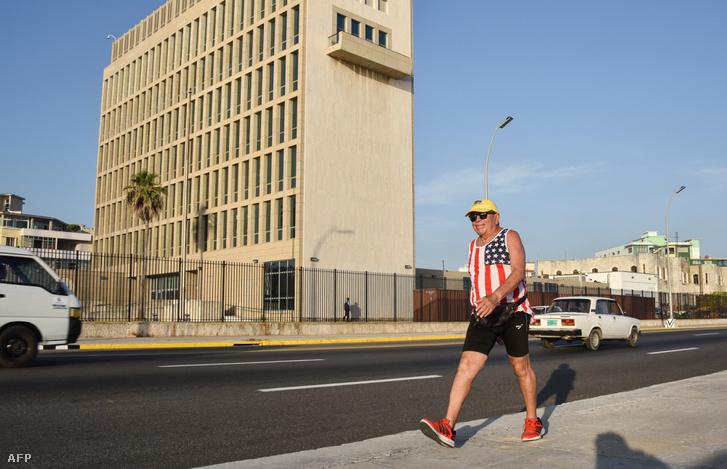 Az amerikai nagykövetség épülete Havannában