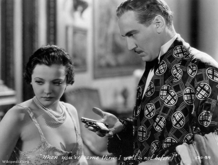 Sylvia Sidney és Lukács Pál a Nagyvárosi utcák című amerikai film egyik jelenetében
