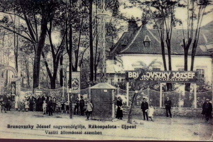 A Brunovszky vendéglő bejárata, 1910-es évek